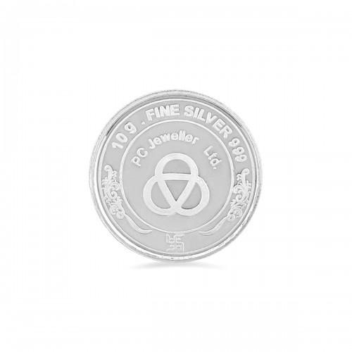 10 Gram Laxmi Ganesh Silver Coin By Pc